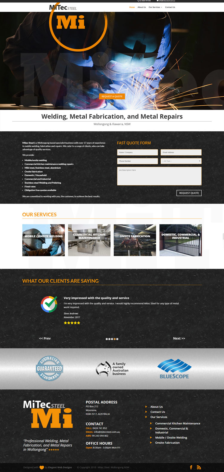 Mitec Steel Website
